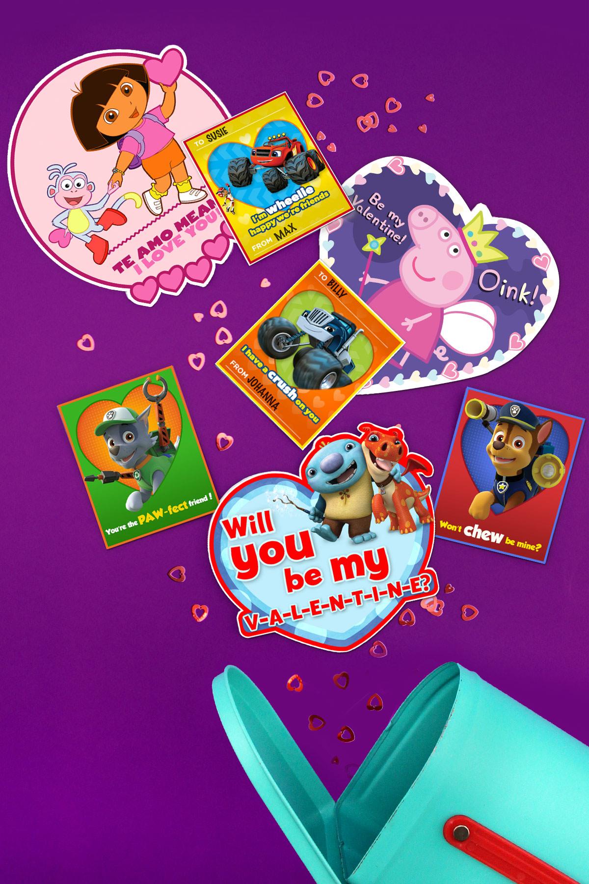 8 Cute Diy Nick Jr Valentine S Day Cards
