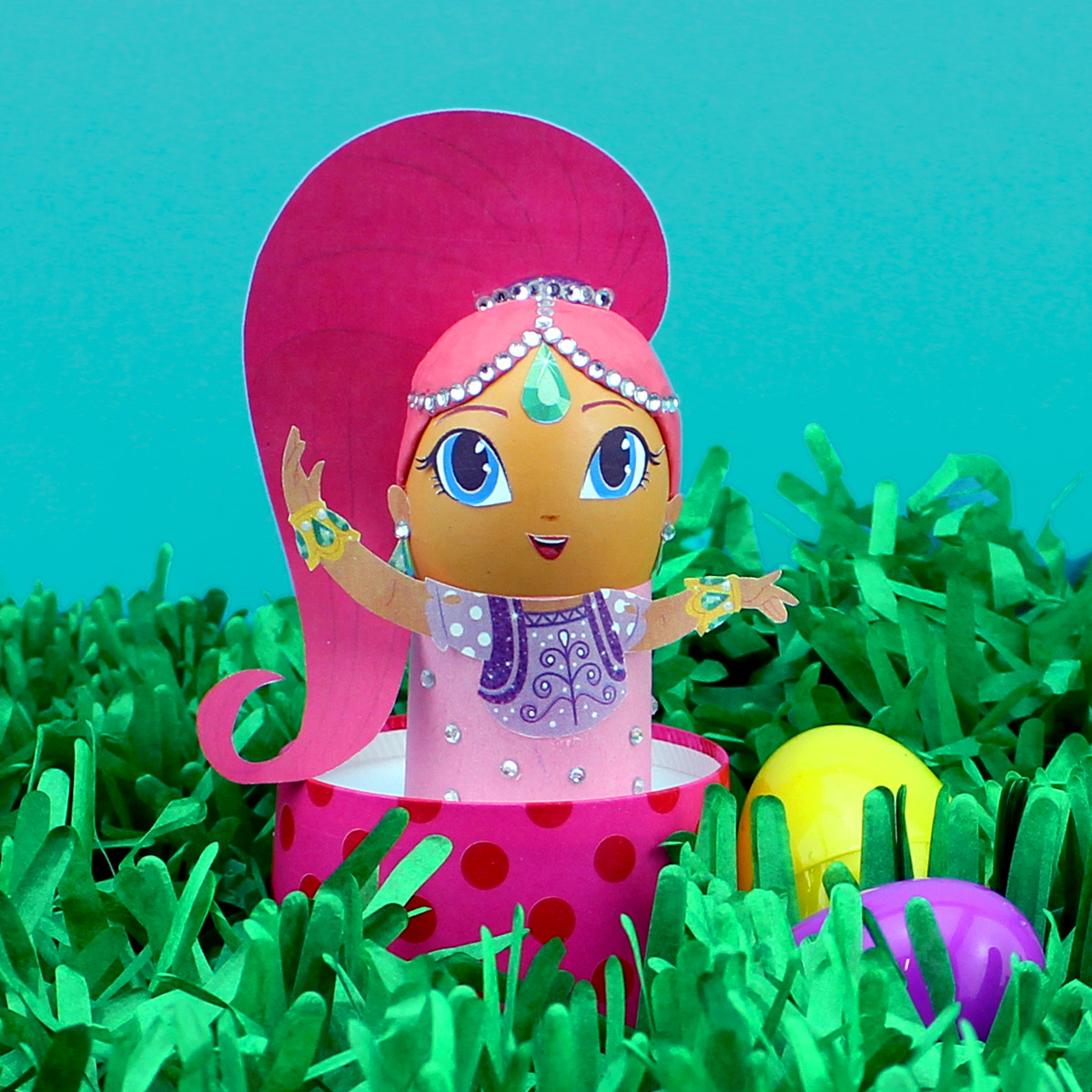 Diy Shimmer And Shine Easter Egg Craft