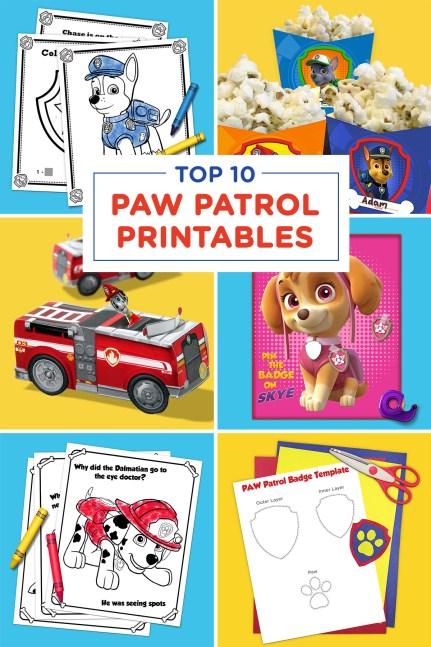Top 10 PAW Patrol Printables