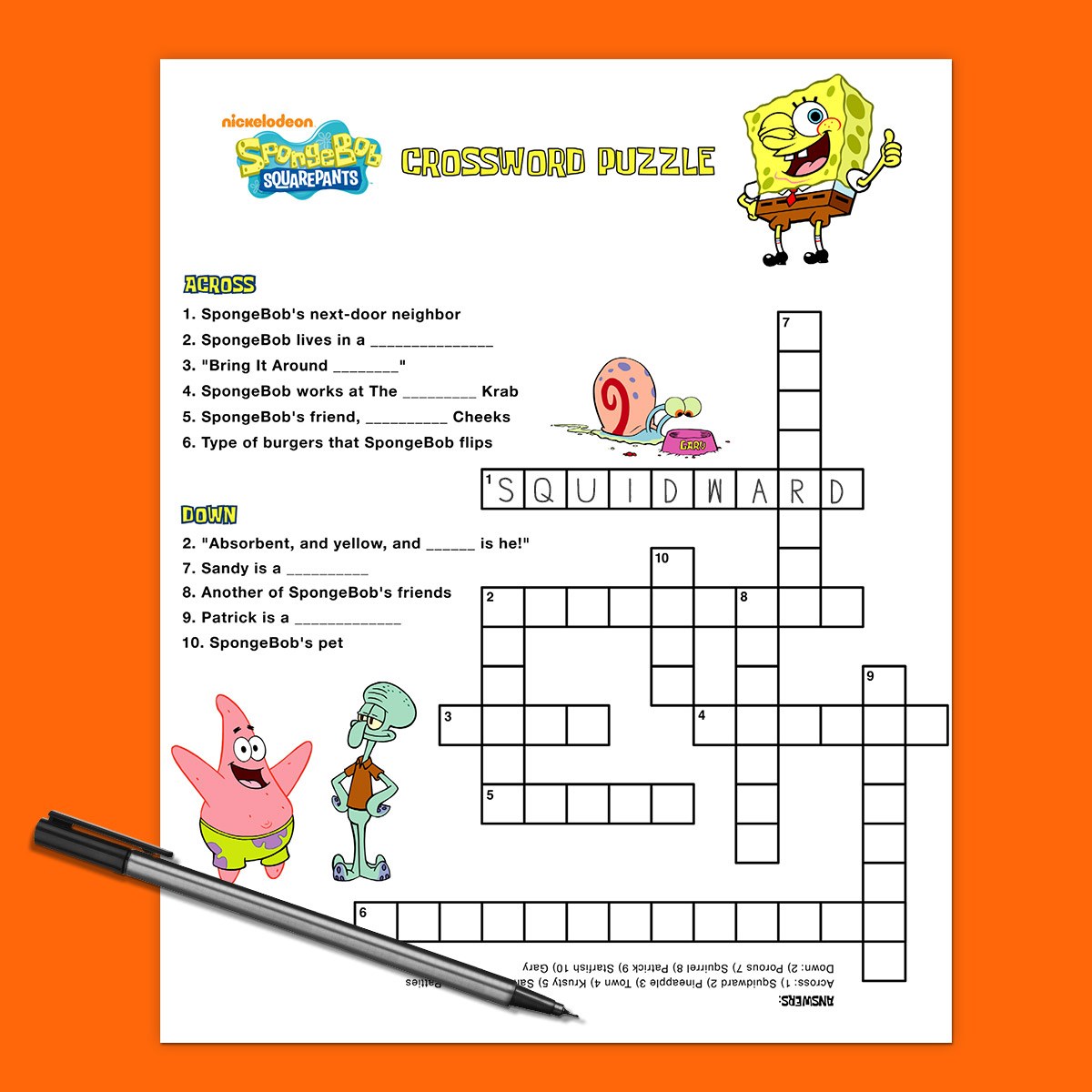 Free Under The Sea Worksheet