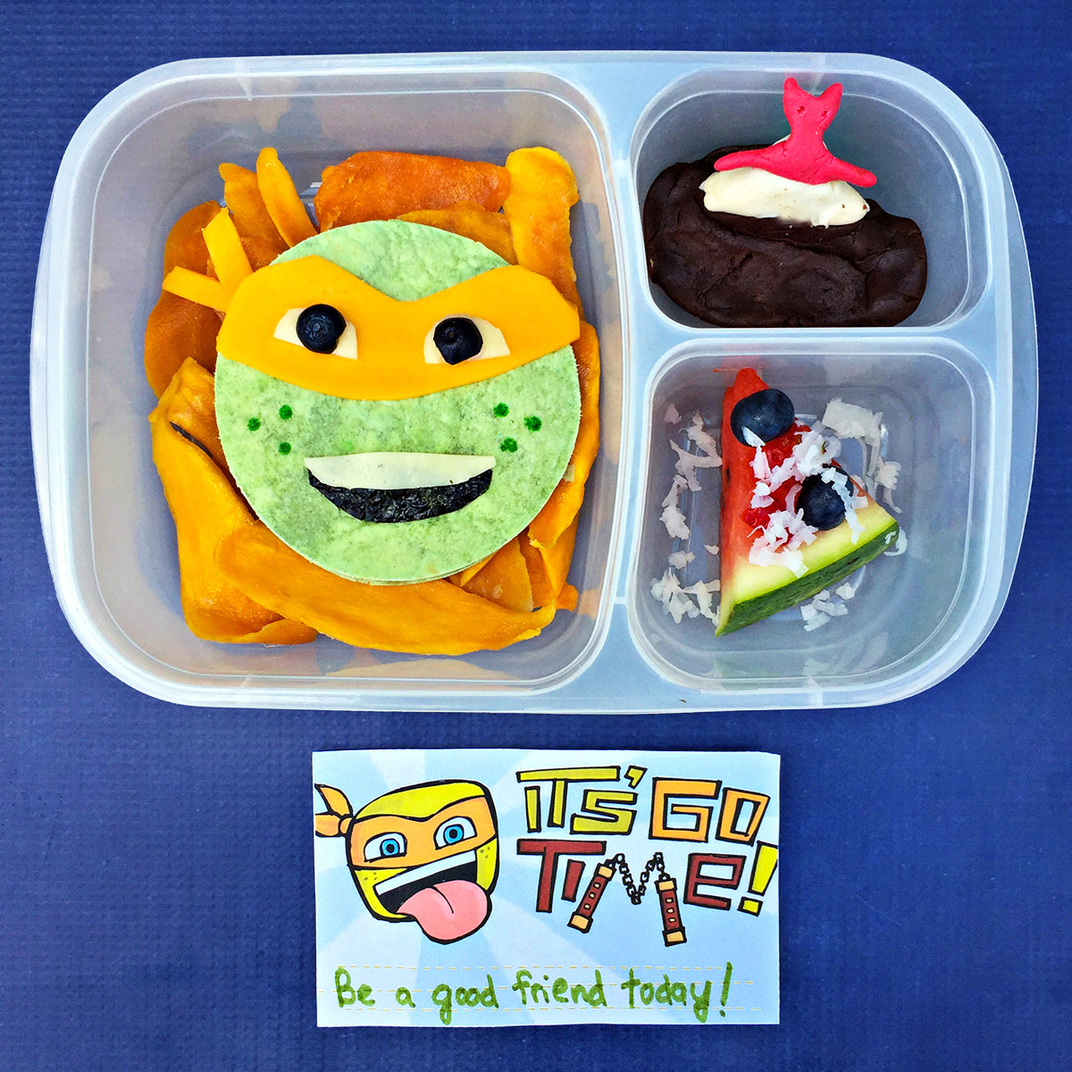 Tmnt Bento Style Michelangelo Lunch Recipe