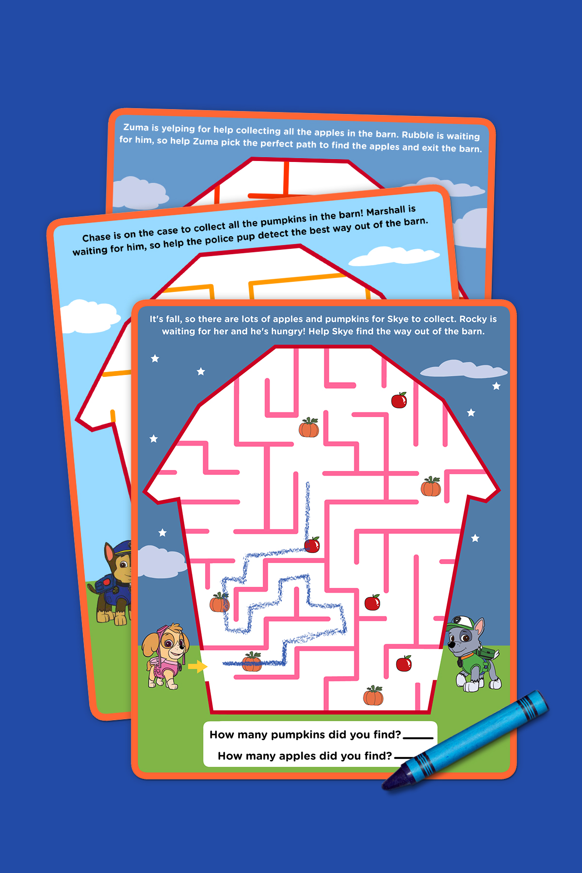 Paw Patrol Fall Maze Pack