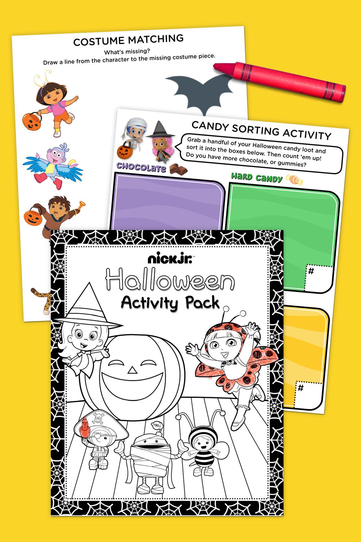 Nick Jr Halloween Activity Pack