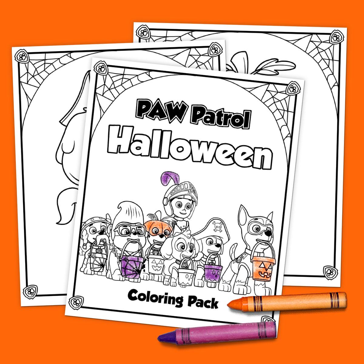 5 Paw Patrol Halloween Printables