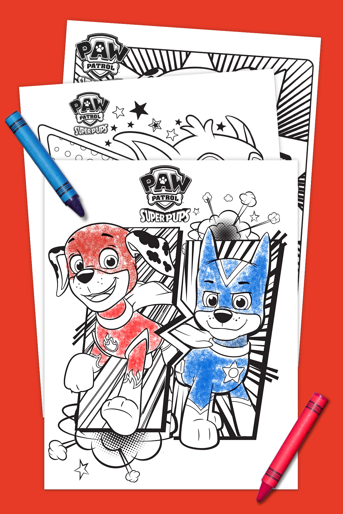 Super Pups Coloring Pack Nickelodeon Parents