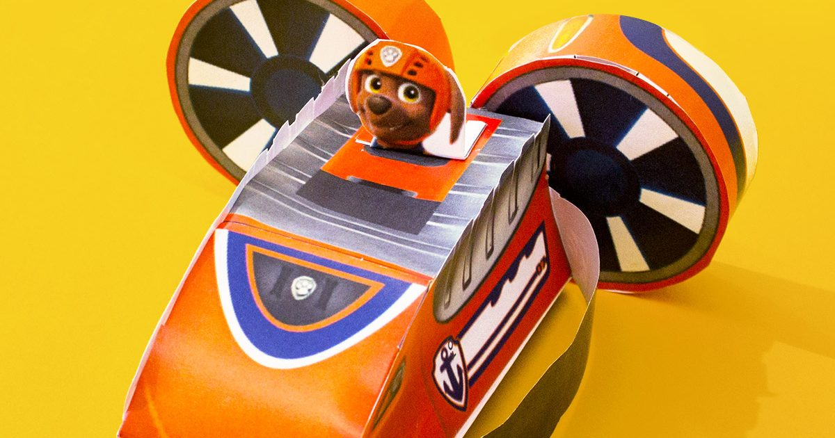 PAW Patrol Zuma Paper Vehicle Toy Nickelodeon Parents