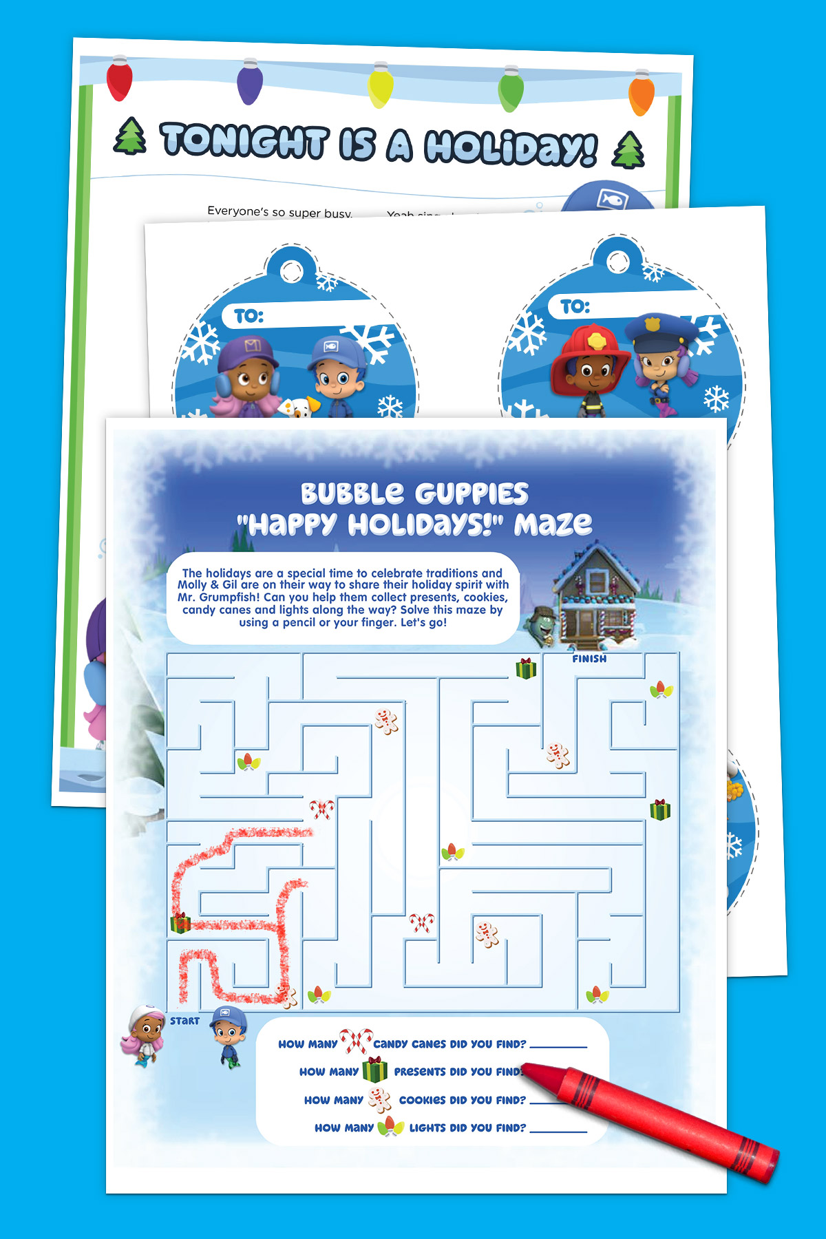 Bubble Guppies Holiday Activity Pack