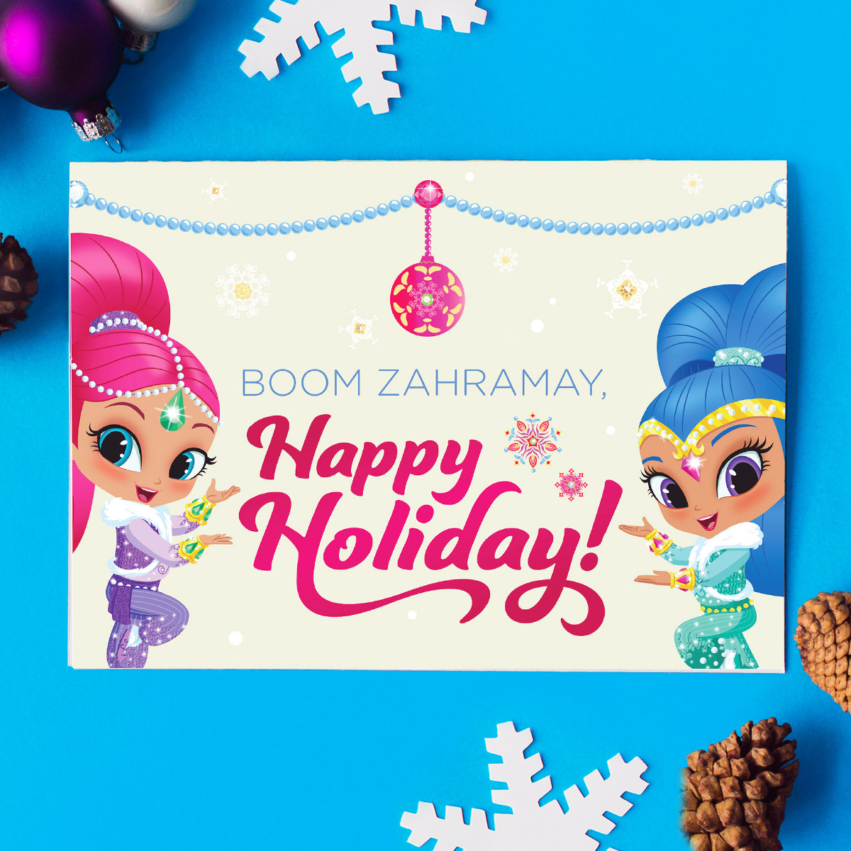 Five Nick Jr Holiday Greeting Cards