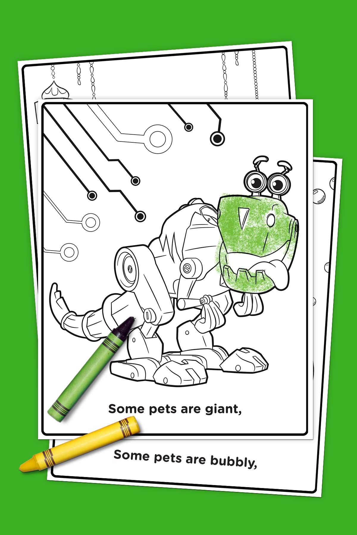 Pets Of Nick Jr Coloring Pack