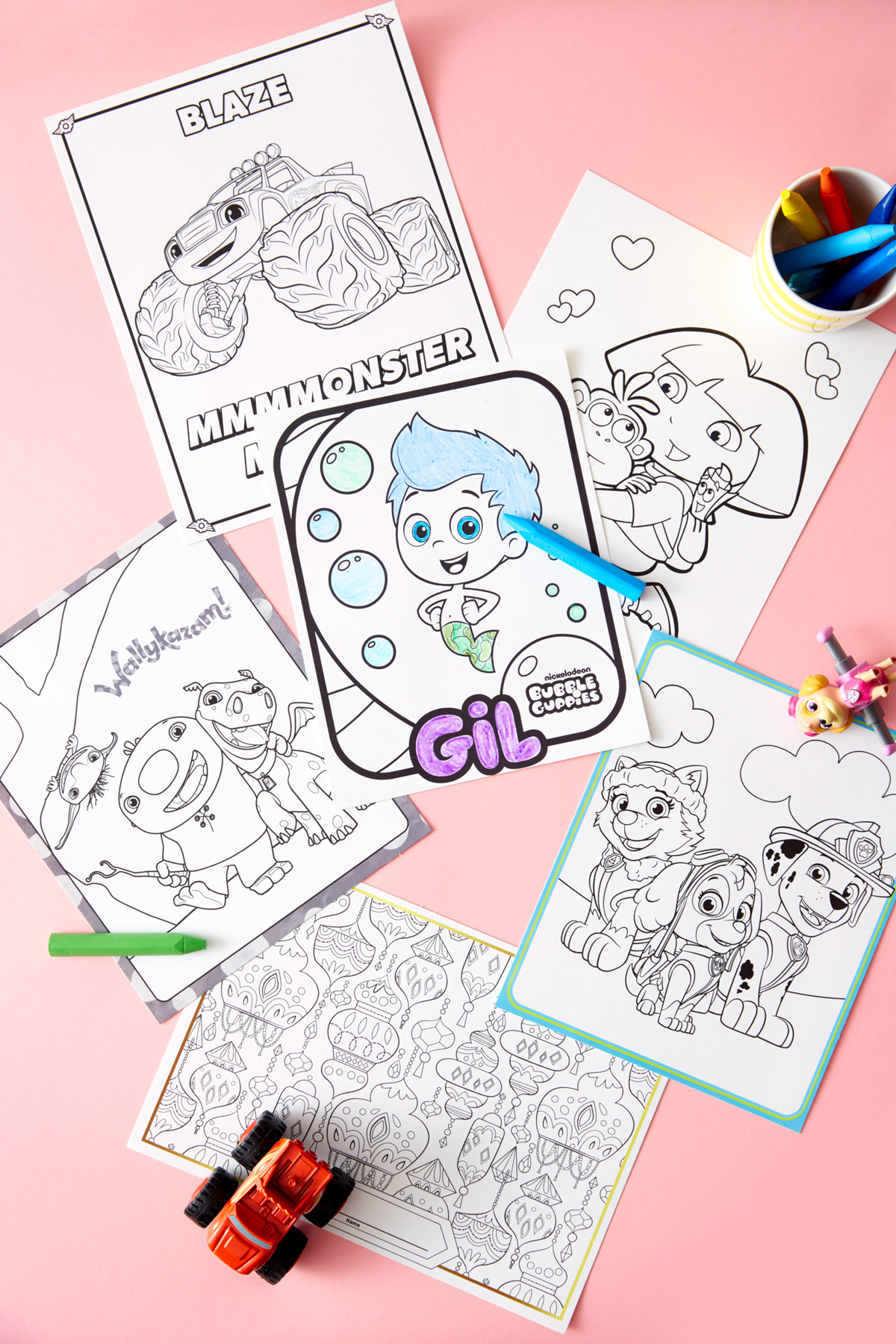 Nick Jr Birthday Party Coloring Printables