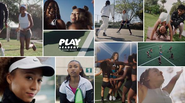 Play Academy with Naomi Osaka was launched in 2020 to create real change in the lives of girls. (Image credit: Nike)
