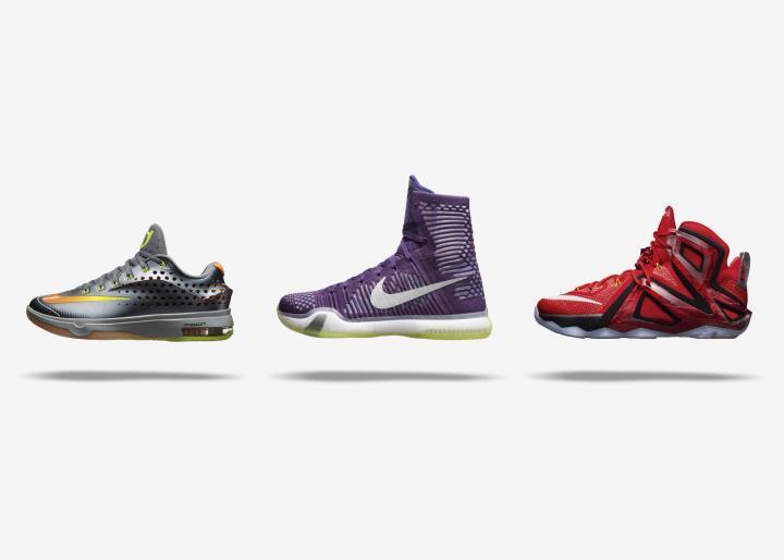 on sale 29289 79977 Nike Basketball Elite Series Team Collection  KD7, KOBE X and LEBRON 12.