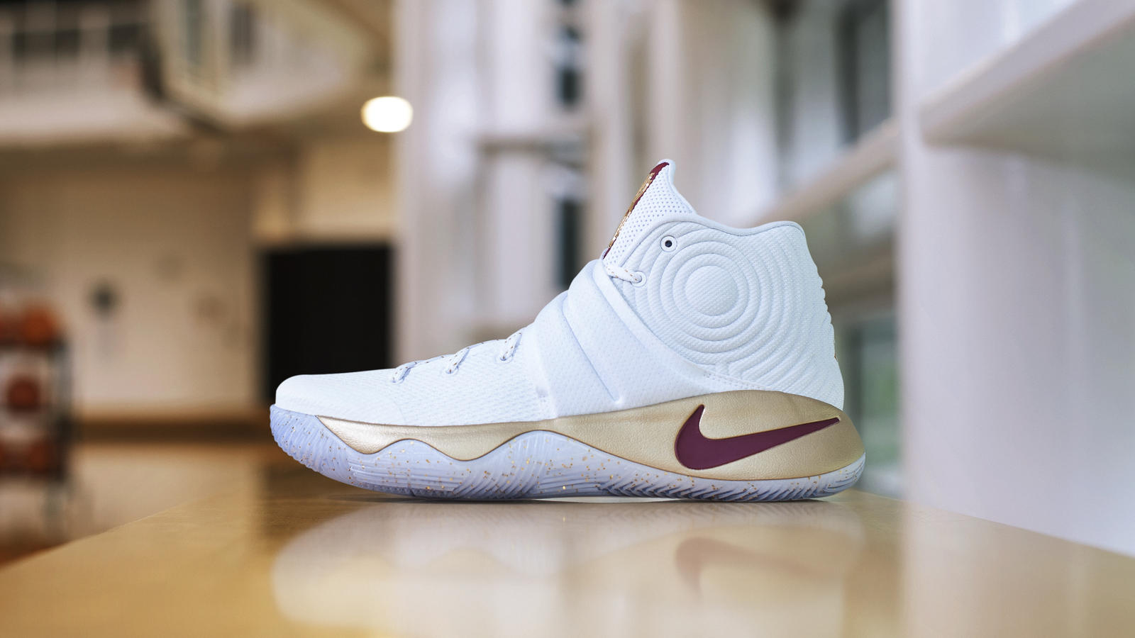 the latest 666f6 2b0b7 2 White and Gold Nike Kyrie