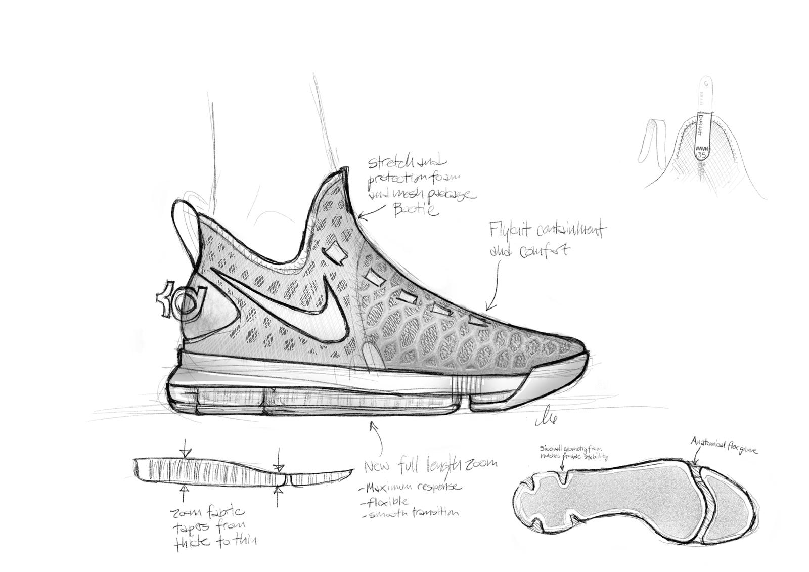 hight resolution of kd9 sketch by leo chang original