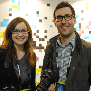 Filmmakers James Swirsky and Lisa Pajot  - Image from http://www.indiegames.com