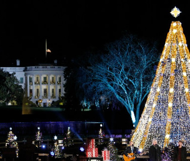 Elegant Sparkling Gold And Silvery White Colors Highlight This Years National Christmas Tree