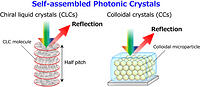 Self-assembled organic and polymer photonic crystals for
