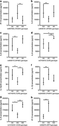 Association of common single-nucleotide polymorphisms in