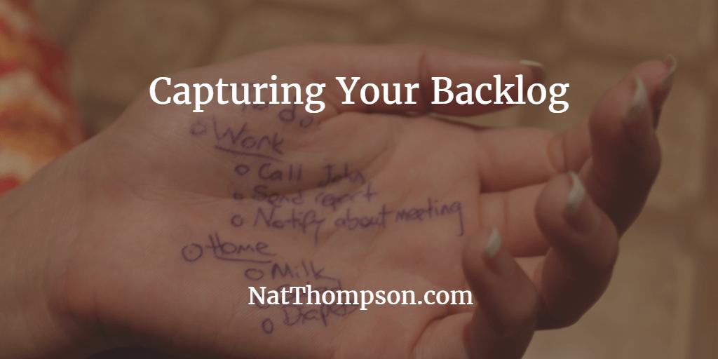 Capturing a Backlog of User Stories