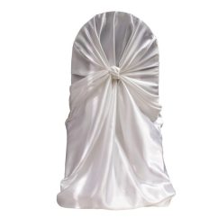 Cheap Universal Chair Covers For Sale Banquet Hall White Satin Wrap Ocean Tents Sku Wscb1