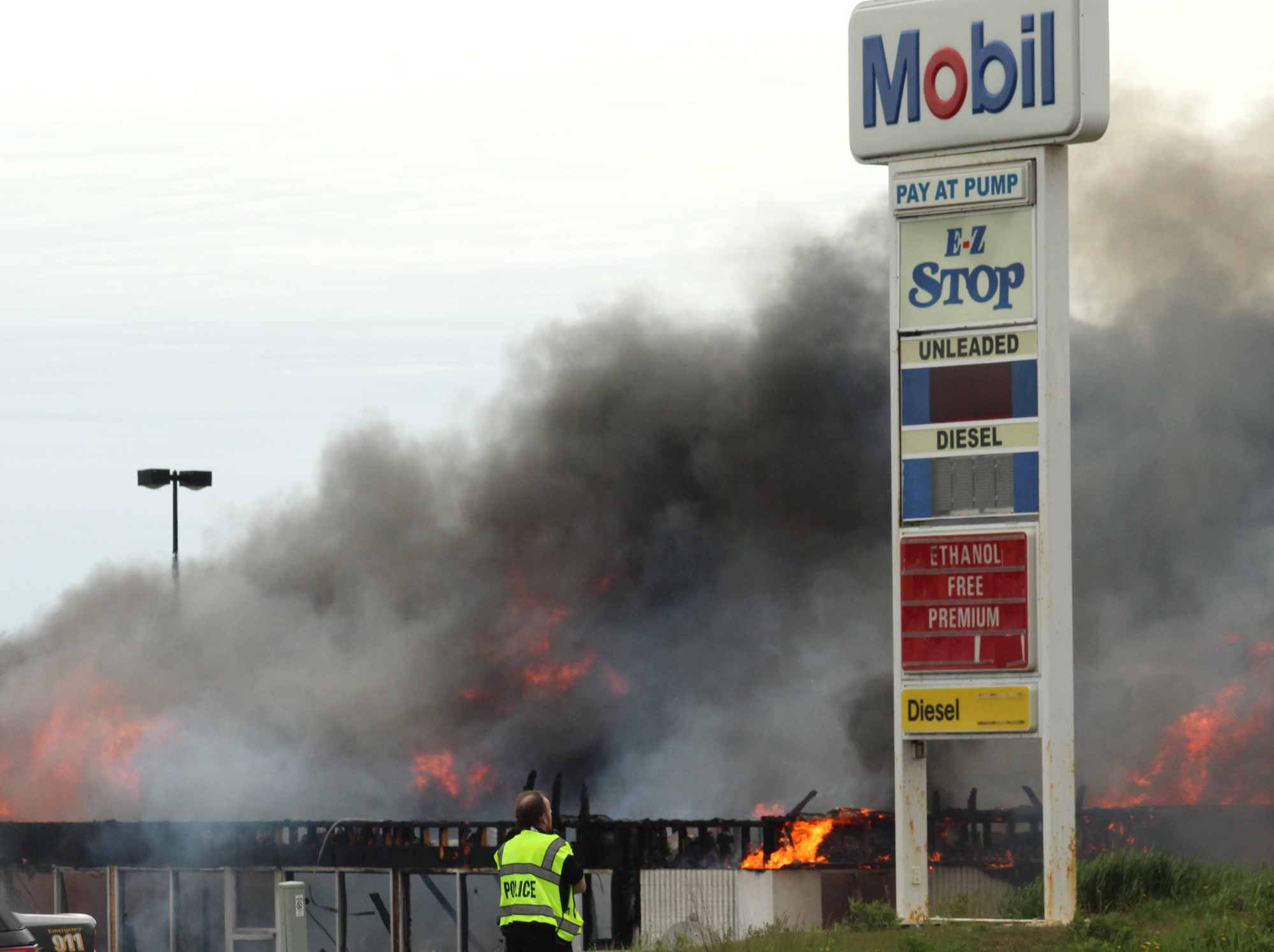 IM firefighter treated for burns and released after being trapped in gas station blaze  News