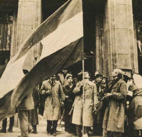 The Soviet crackdown in Hungary was still going.