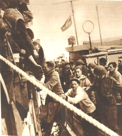 Loading German Prisoners after Commando Raid - It wasn't much, but it was all everyone talked about.