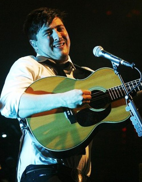 Marcus Mumford - basking in the arrival.