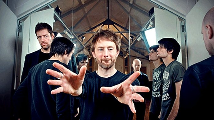 Radiohead - in 1995 standing at the threshold of becoming a household name.