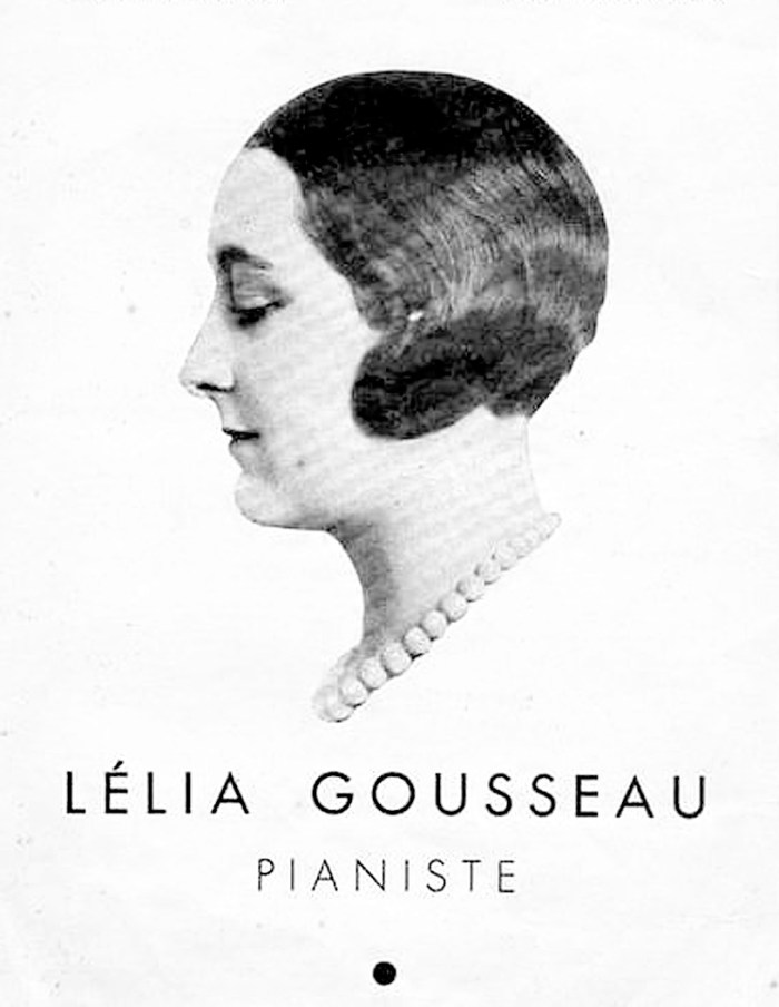Lelia Gousseau - one of the bright lights in the art of French piano playing.