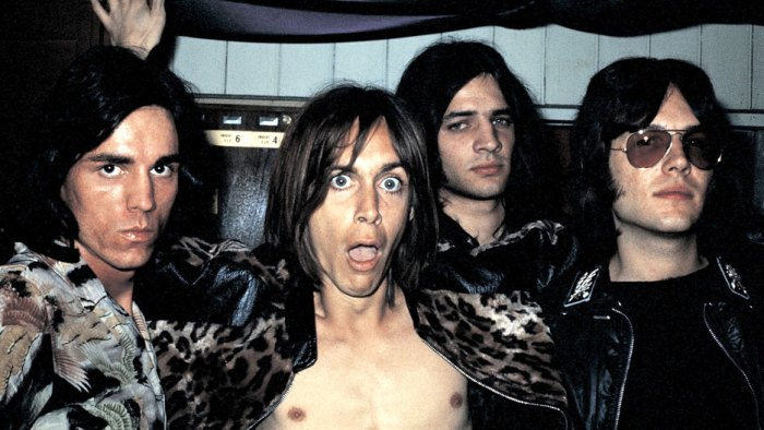 The Stooges with Iggy Pop (Scott Asheton in back) - loudly dismissed at first, wildly influential in the end. RIP - Scott Asheton.