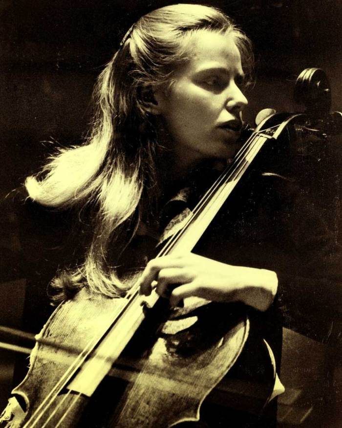 "The legendary Jacqueline Du Pre in another ""lost concert"" this week."