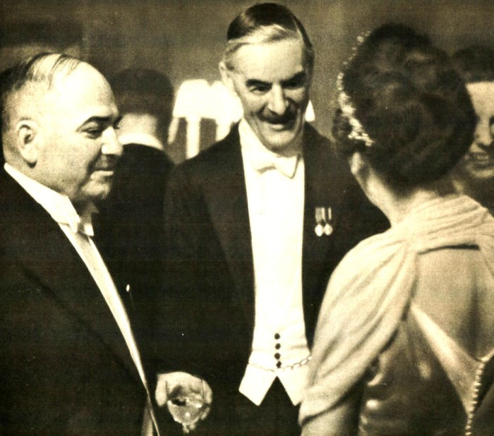 Party at the Soviet Embassy in London - June 30, 1939. Toasts and back-slapping . . .for now.