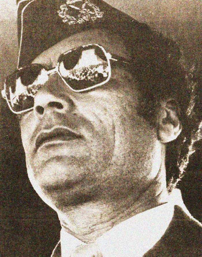 Gaddafi - the thorn in Reagan's side.