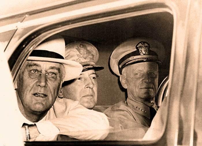 FDR - Gen. MacArthur-Adm. Chester Nimitz. 1944 was the game changer.