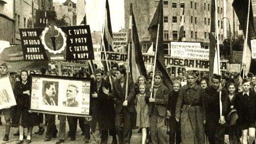 Demonstration in Eastern Europe