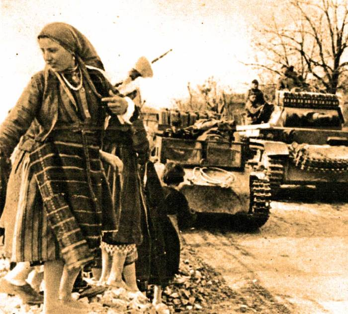 German Mechanized units in Bulgaria - in some cases, the stories were true.