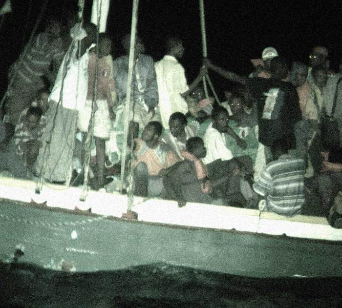 Haitian Boat People - The Bush Administration decided maybe this wasn't such a good idea.