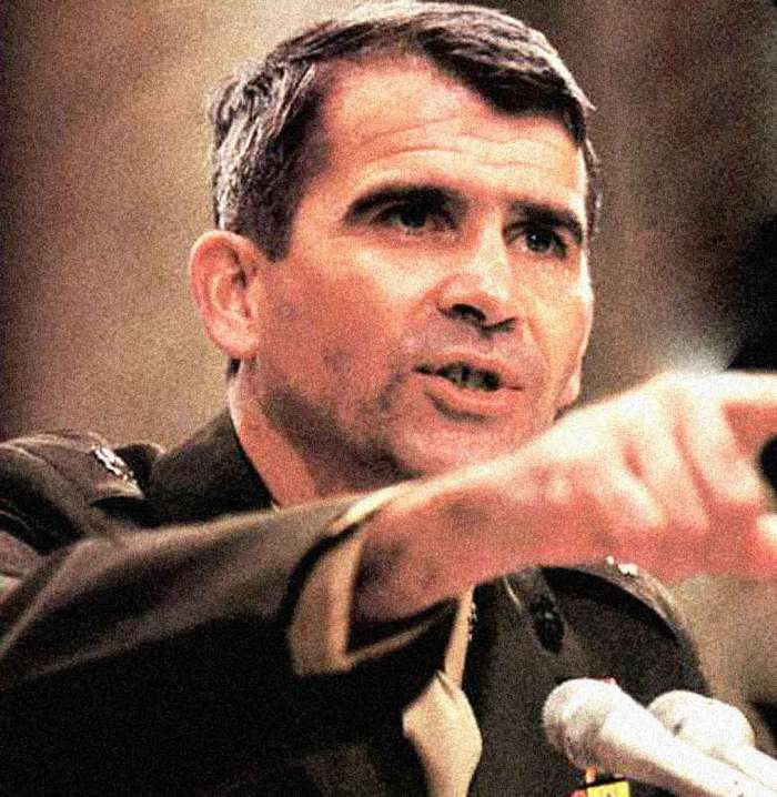 "Many asked: ""Is Oliver North a heel, a hero or something in-between""."