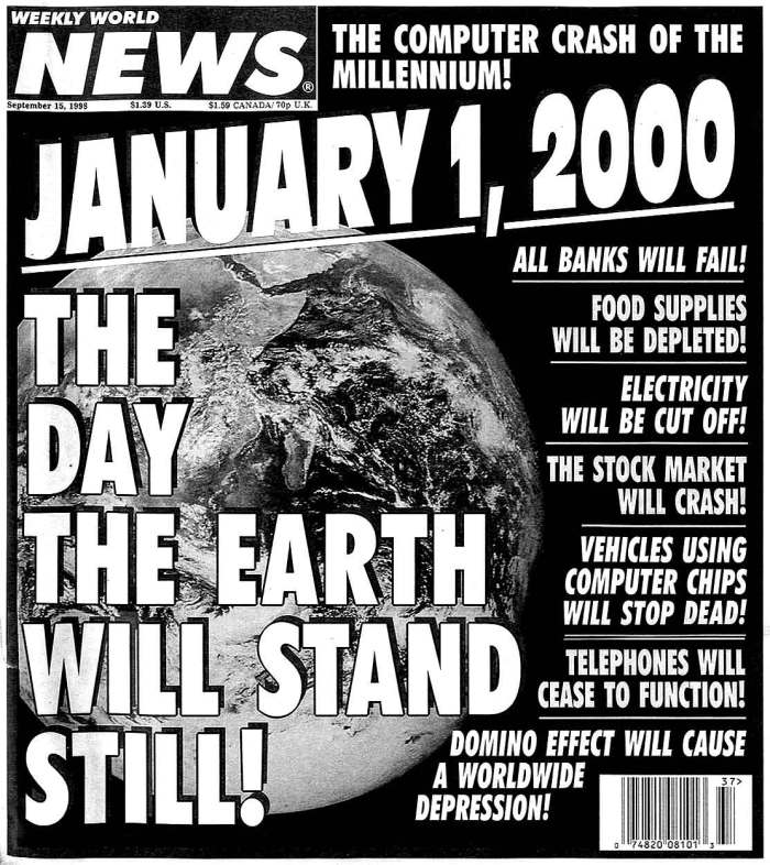Y2K - the coming catastrophe . . .of a sort