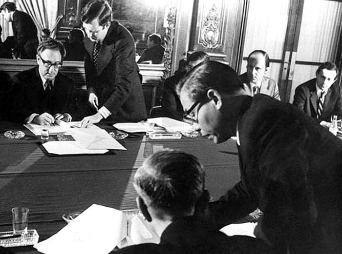 January 28, 1973 - Paris peace signing