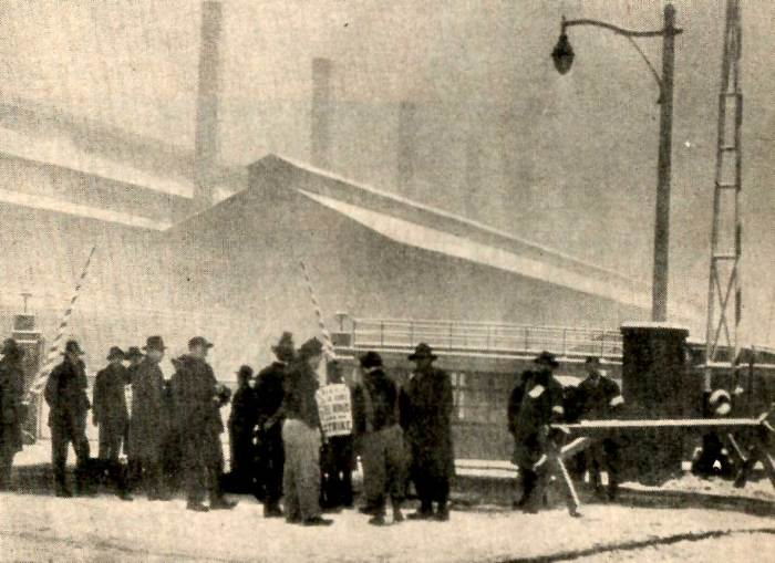 February 1, 1946 - Picket lines outside Steel Mill