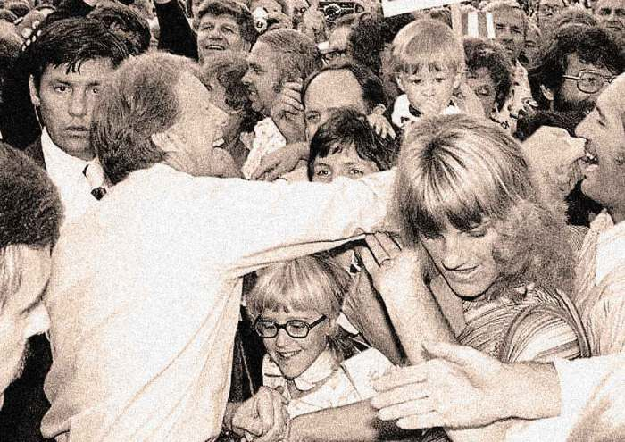 Jimmy Carter campaigning