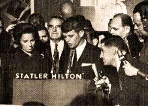 Robert F. Kennedy - election night 1964
