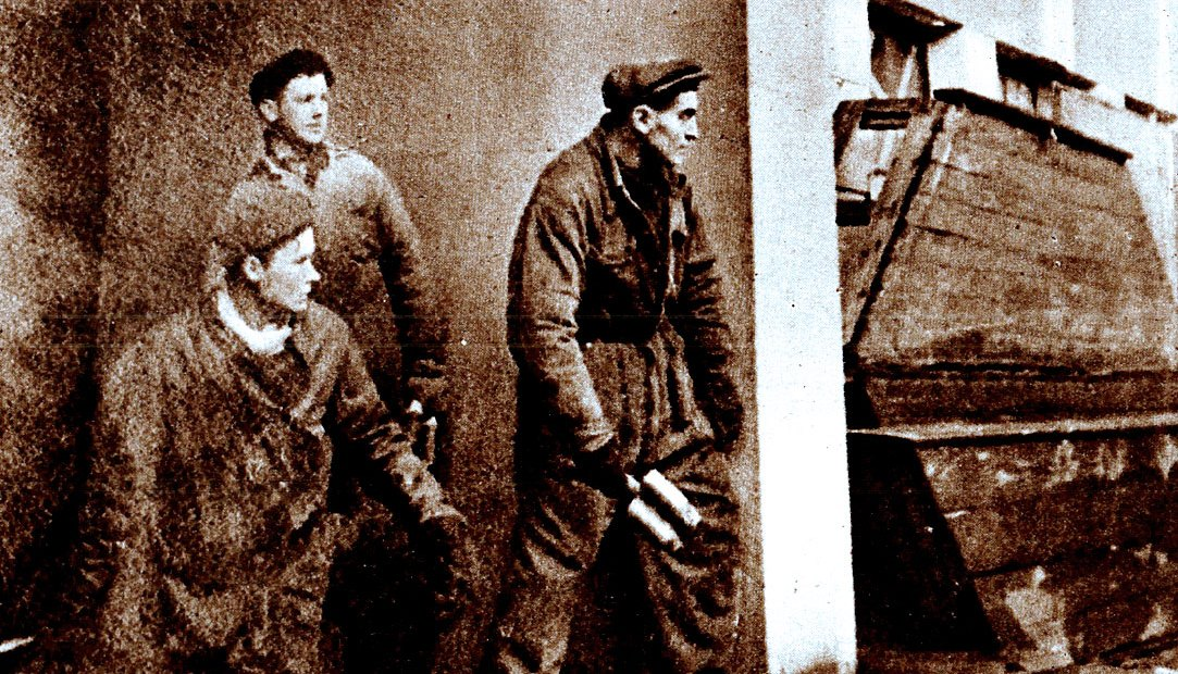 Russian Factory workers joining in the offensive