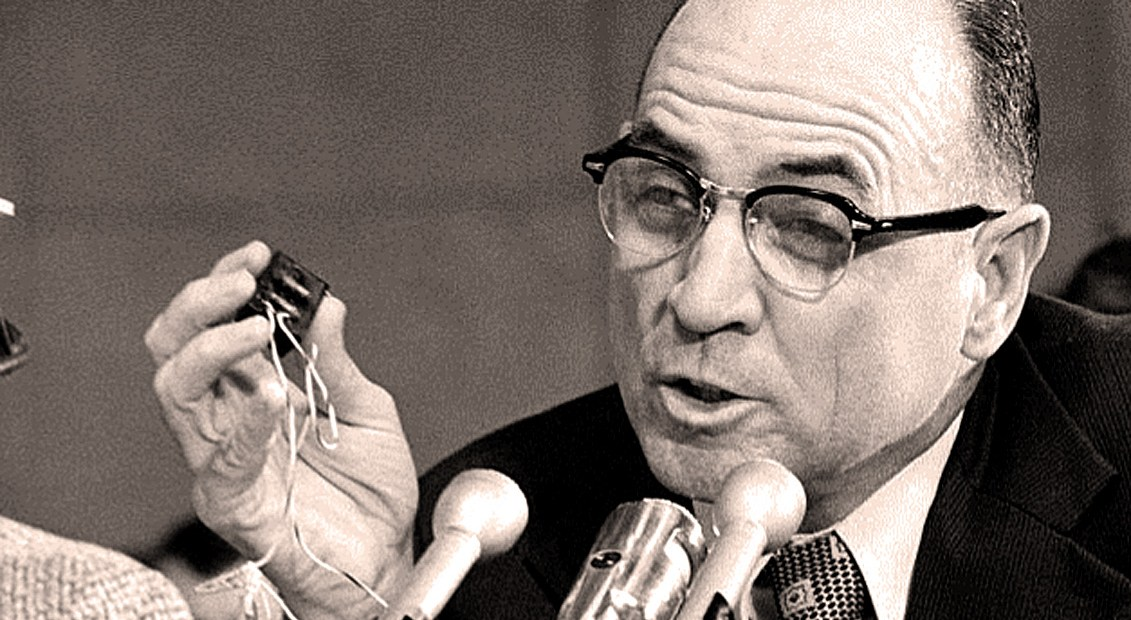 James McCord - Watergate defendant accused of bugging.