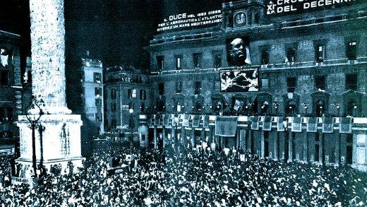 Mussolini address in Rome