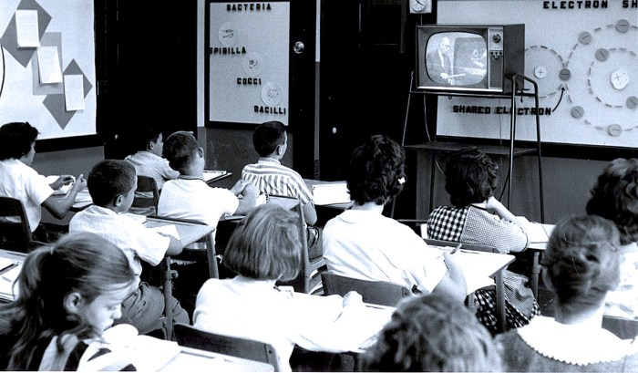 TV in the classroom - 1957