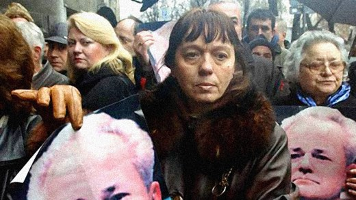 Supporters of Slobodan Milosevic