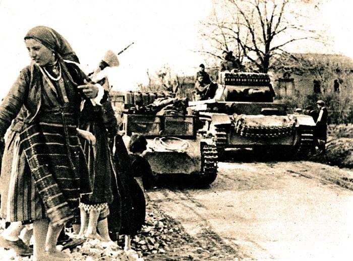 German tanks in Yugslavia - 1941